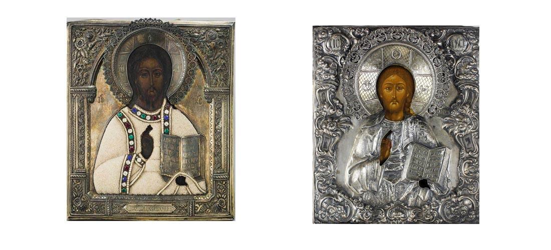 Иконы в серебряных окладах продать в Киеве